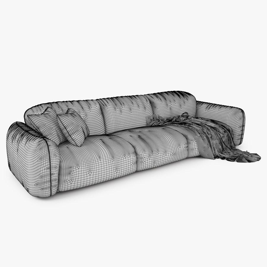 Busnelli Piumotto08 Bank en fauteuil royalty-free 3d model - Preview no. 12
