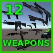 12 wapenspakket 3d model