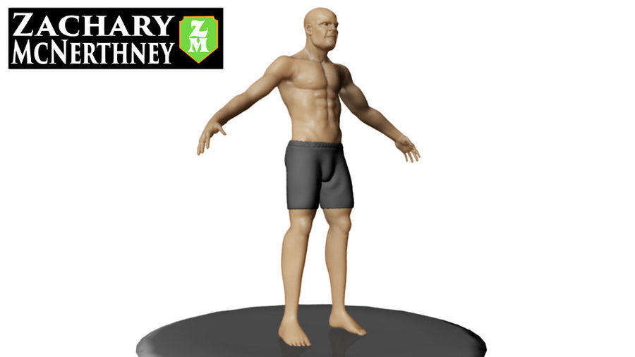 homem atlético royalty-free 3d model - Preview no. 3
