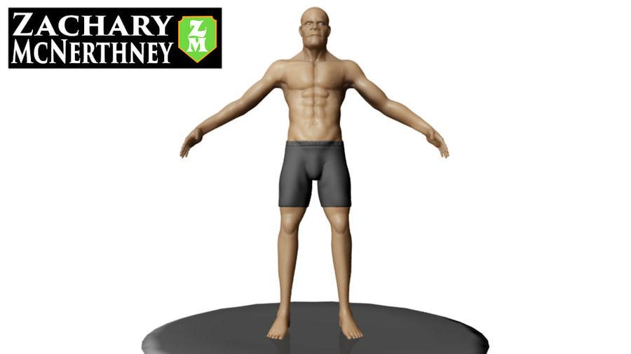 homem atlético royalty-free 3d model - Preview no. 2