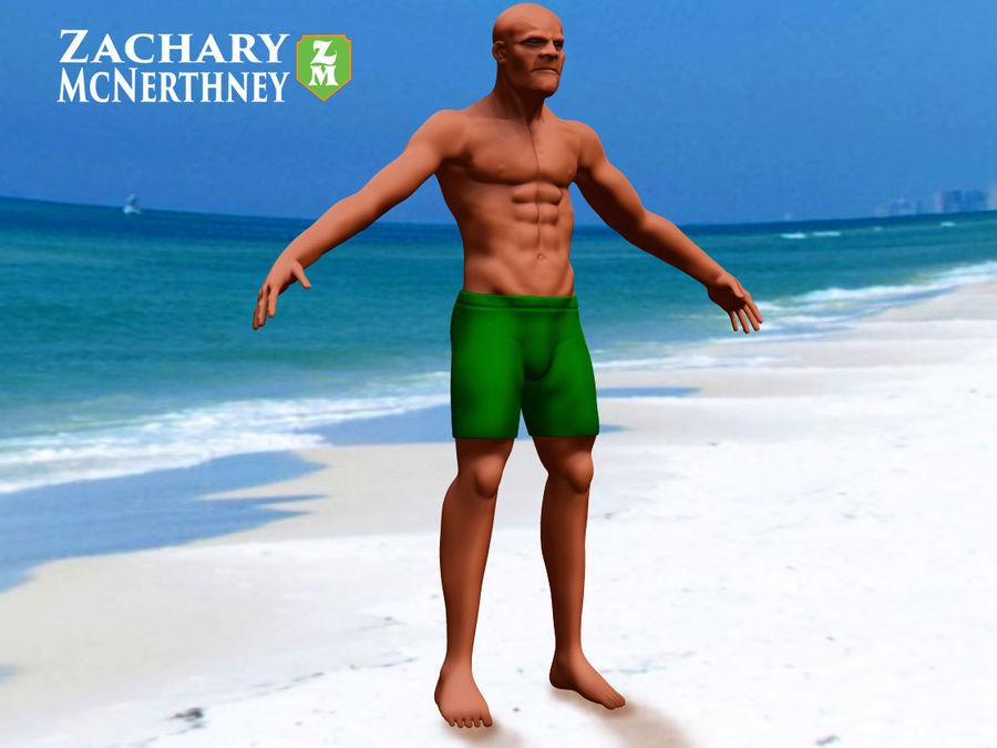 homem atlético royalty-free 3d model - Preview no. 1