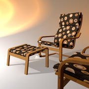 ikea Poang stol 3d model