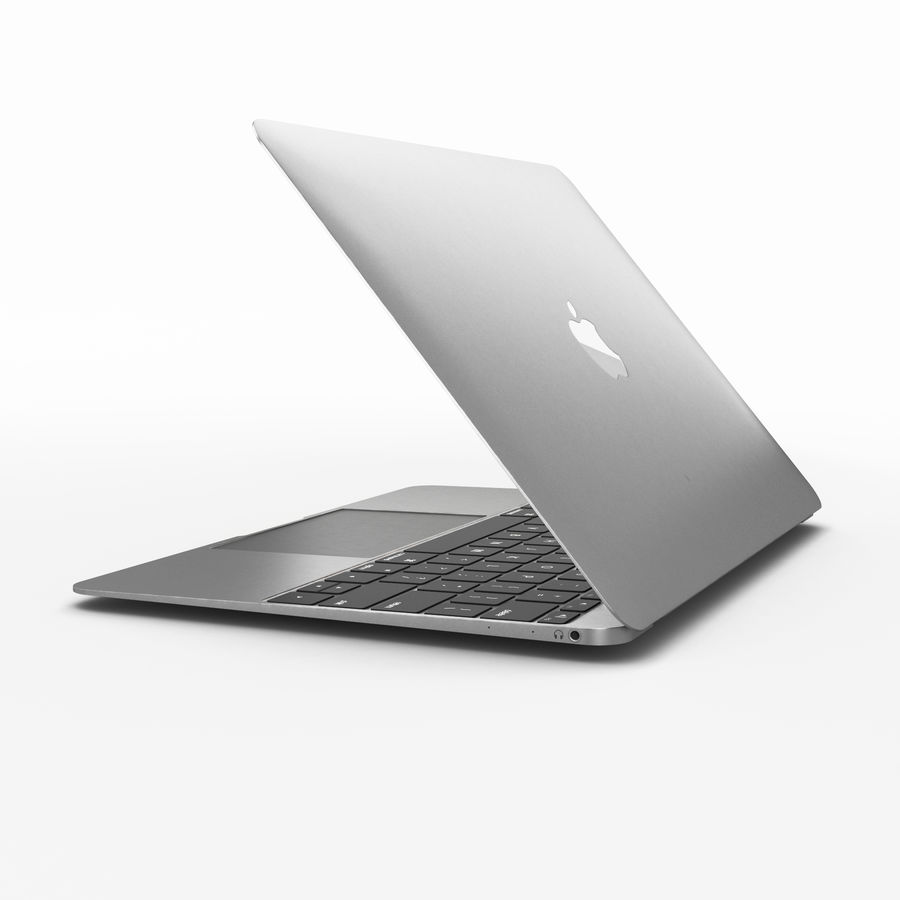 Macbook 2015 royalty-free 3d model - Preview no. 4