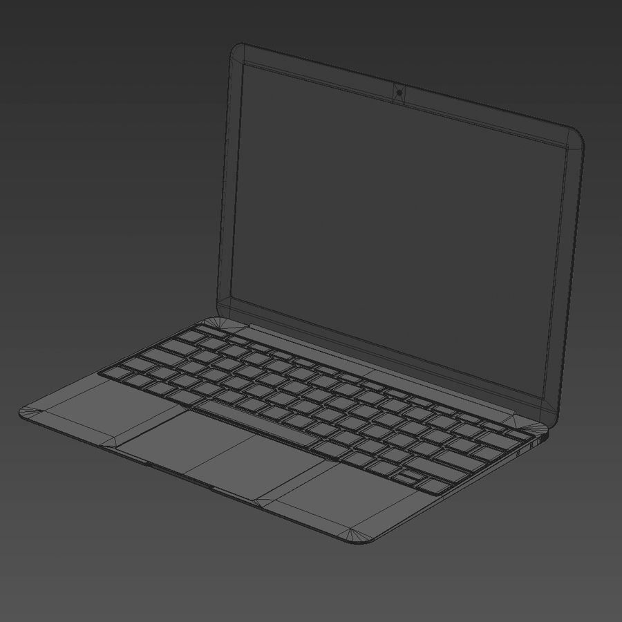 Macbook 2015 royalty-free 3d model - Preview no. 12