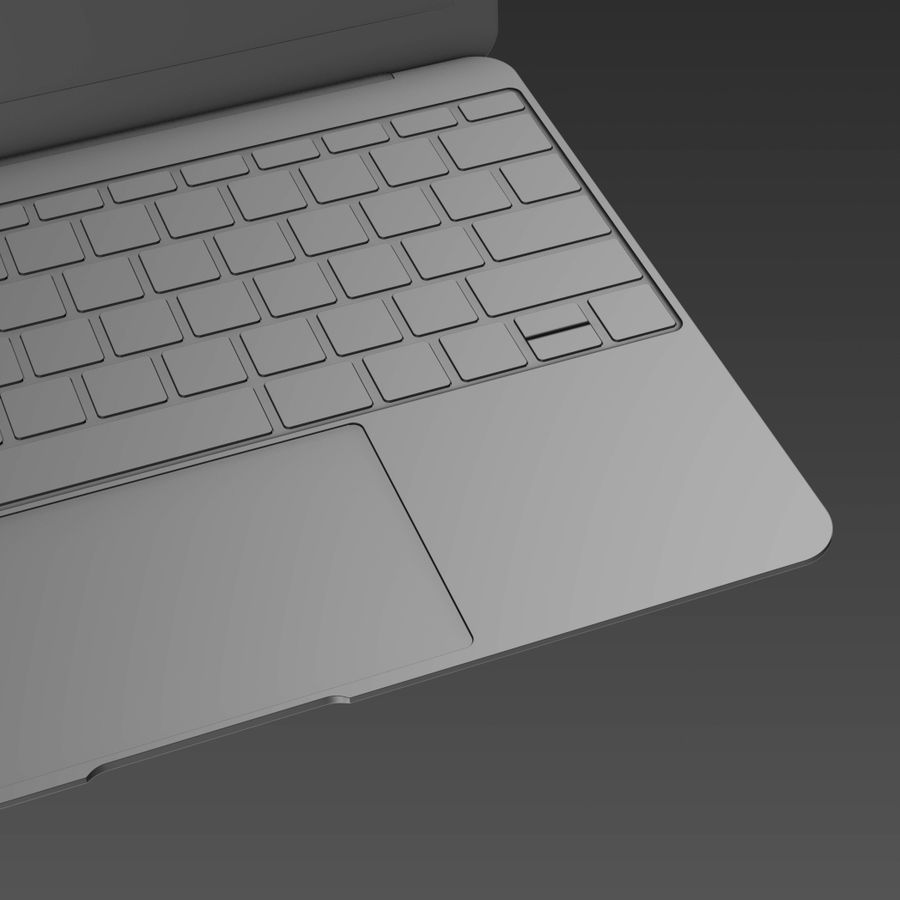 Macbook 2015 royalty-free 3d model - Preview no. 16