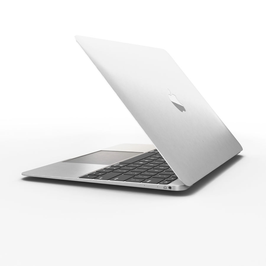 Macbook 2015 royalty-free 3d model - Preview no. 5
