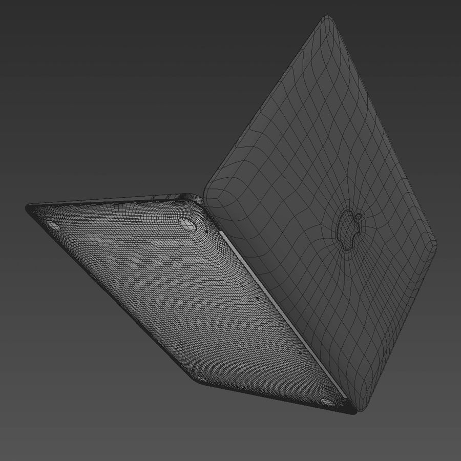 Macbook 2015 royalty-free 3d model - Preview no. 13
