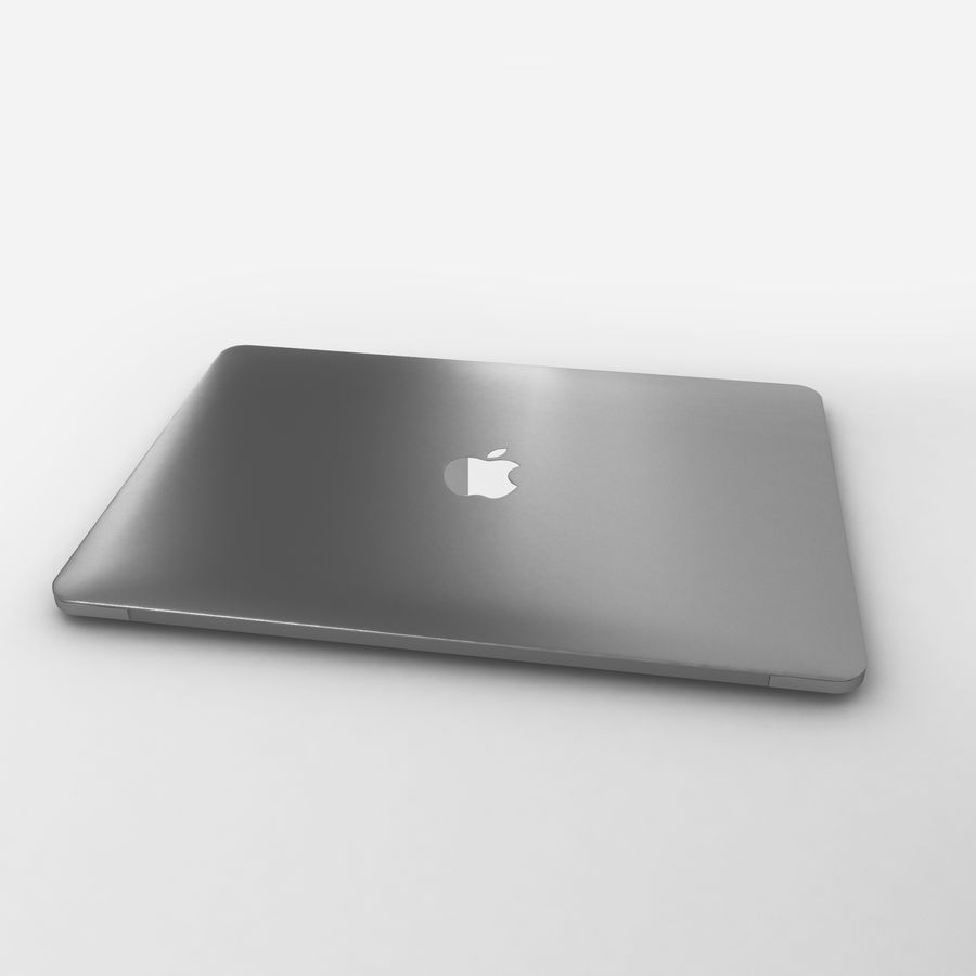 Macbook 2015 royalty-free 3d model - Preview no. 10