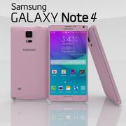 Samsung Galaxy Note 4 Blossom Pink 3d model