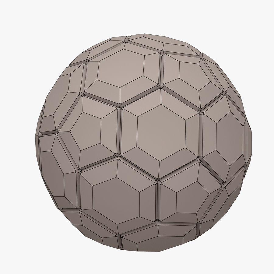 Football (ballon de soccer) royalty-free 3d model - Preview no. 9