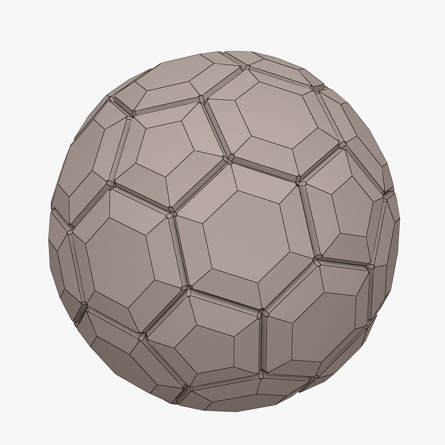 Football (Soccer Ball) royalty-free 3d model - Preview no. 7