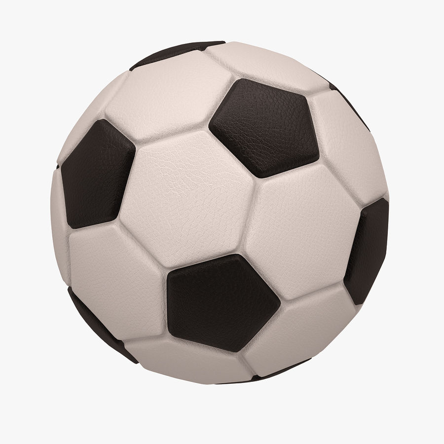 Football (Soccer Ball) royalty-free 3d model - Preview no. 2