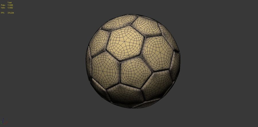 Football (ballon de soccer) royalty-free 3d model - Preview no. 12