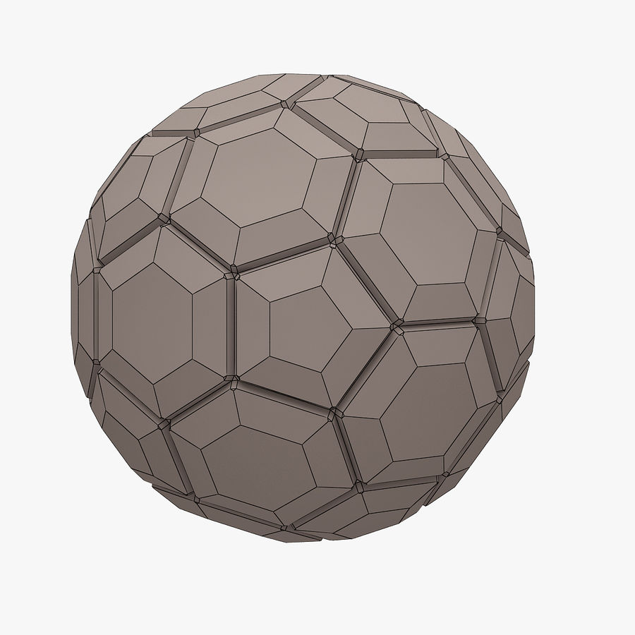 Football (ballon de soccer) royalty-free 3d model - Preview no. 6