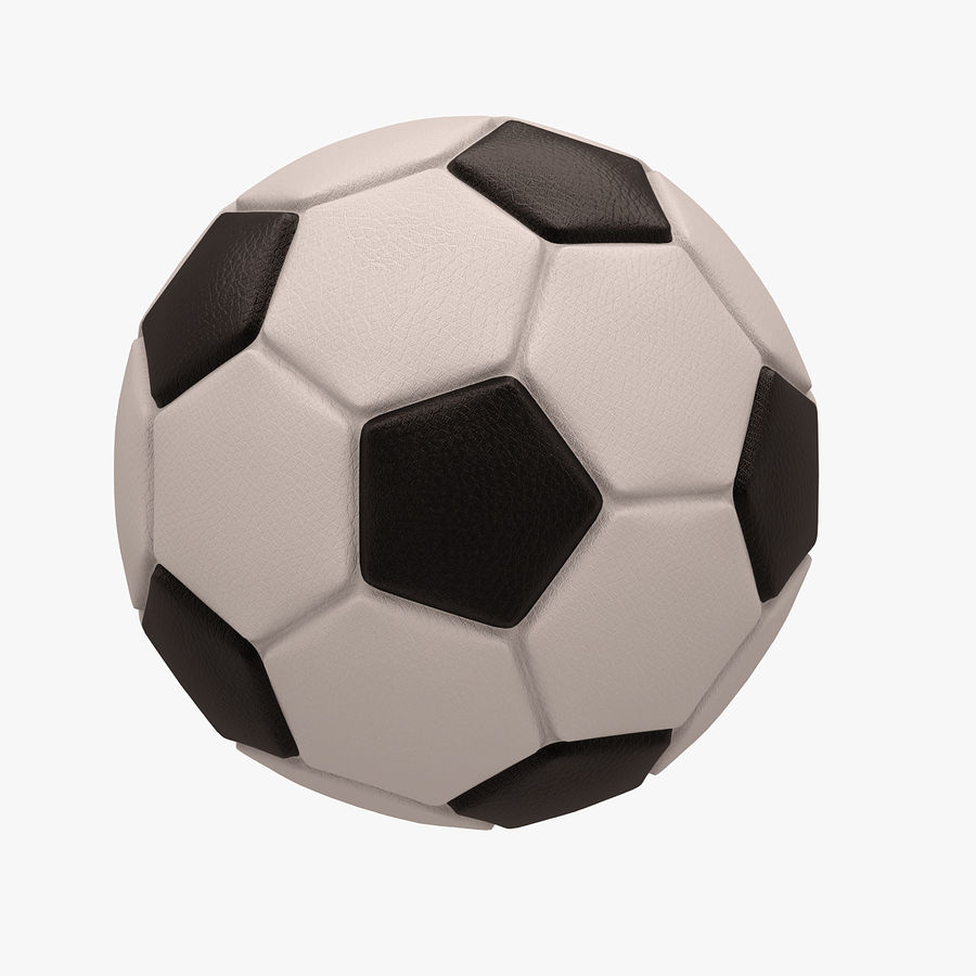 Football (Soccer Ball) royalty-free 3d model - Preview no. 5
