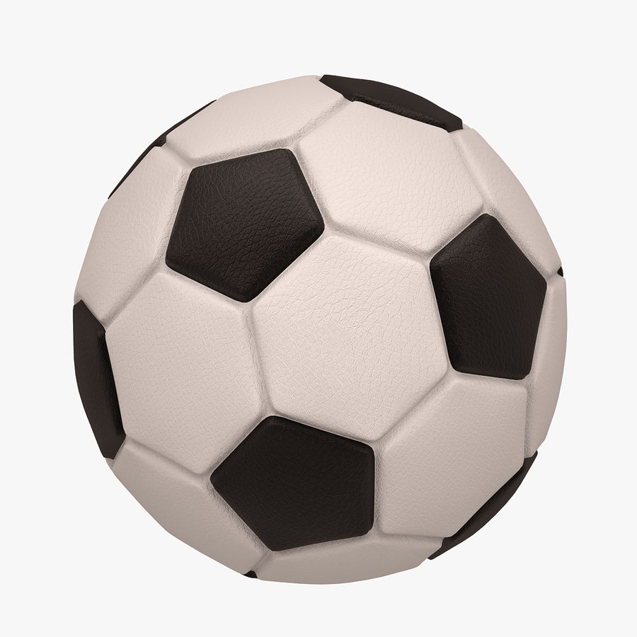 Football (ballon de soccer) royalty-free 3d model - Preview no. 1