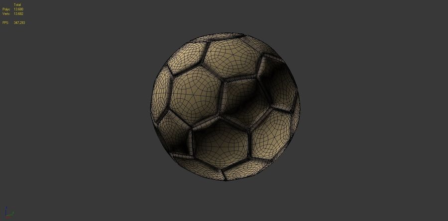 Football (ballon de soccer) royalty-free 3d model - Preview no. 13