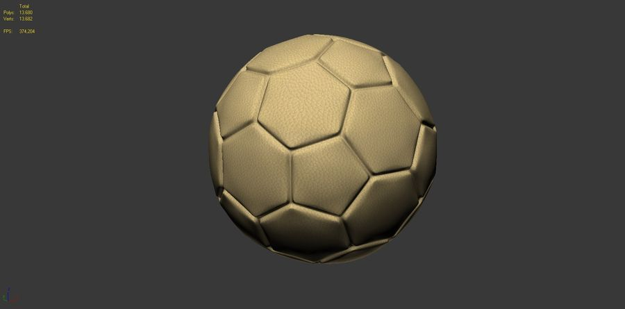 Football (ballon de soccer) royalty-free 3d model - Preview no. 11