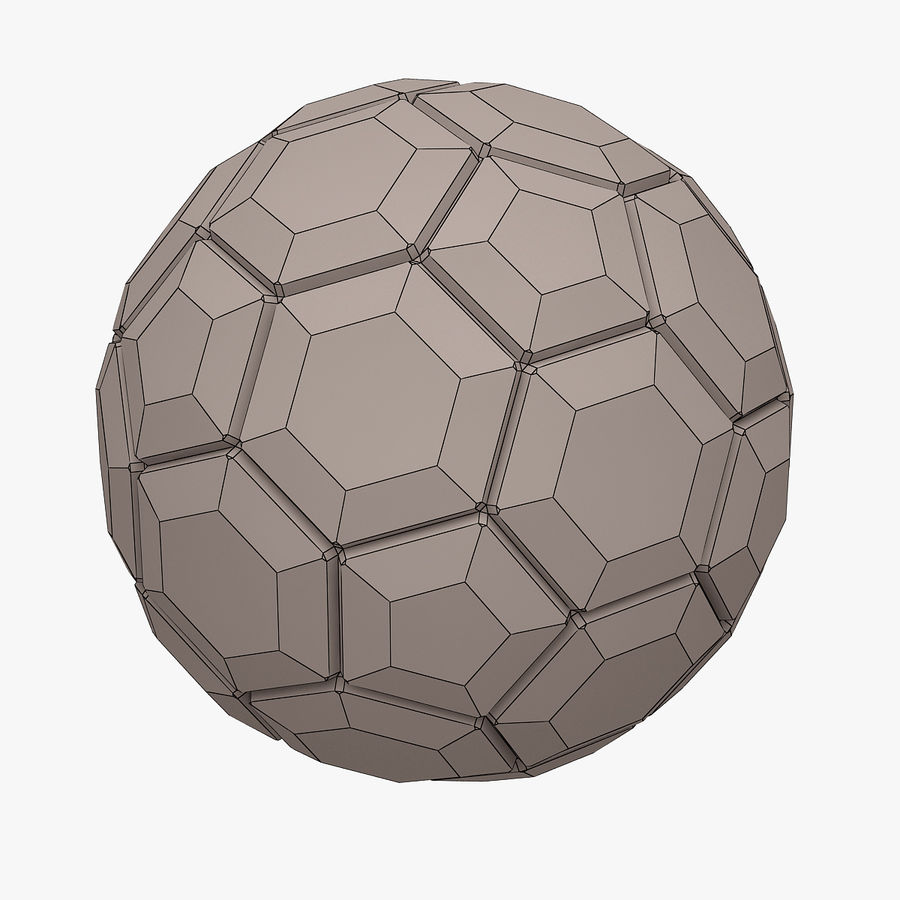 Football (Soccer Ball) royalty-free 3d model - Preview no. 10
