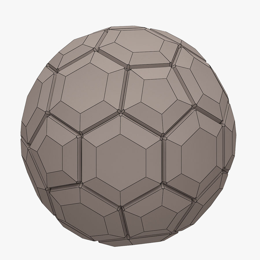 Football (ballon de soccer) royalty-free 3d model - Preview no. 8