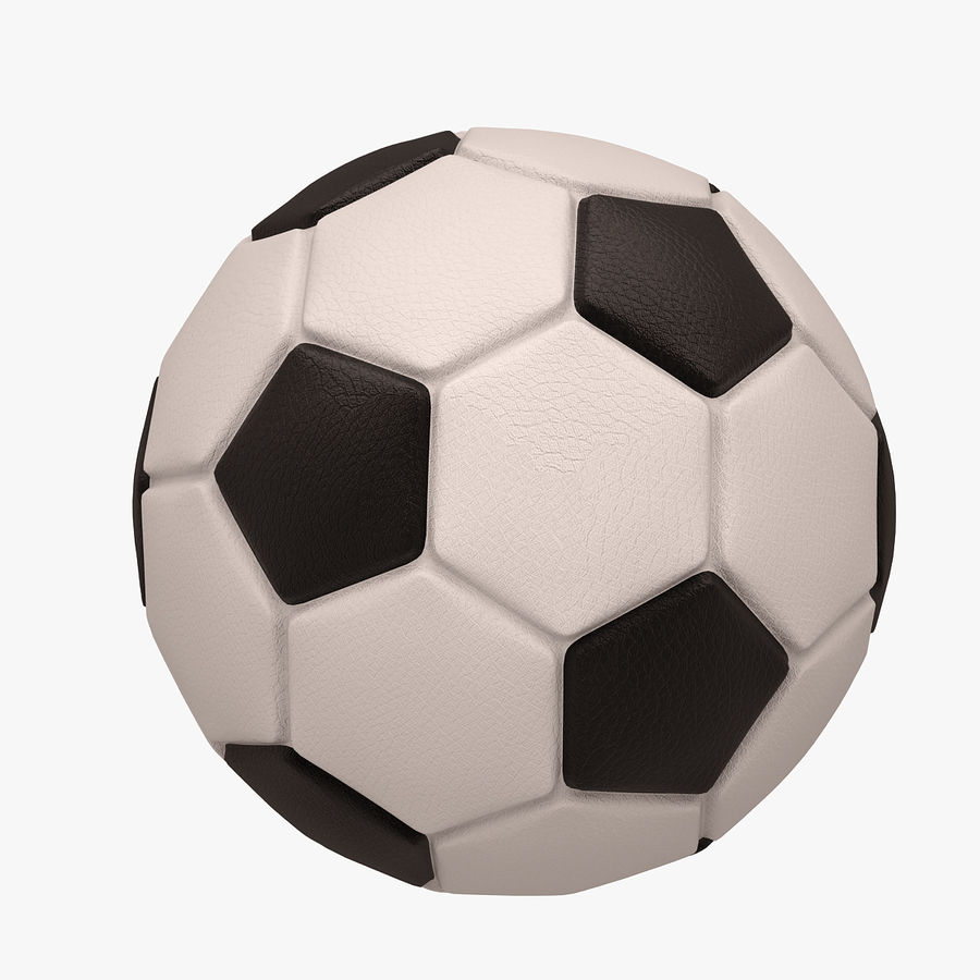 Football (ballon de soccer) royalty-free 3d model - Preview no. 4
