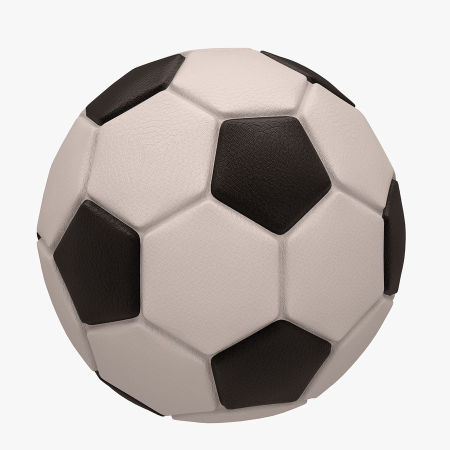 Football (Soccer Ball) royalty-free 3d model - Preview no. 3