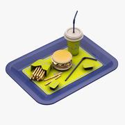 汉堡包 3d model
