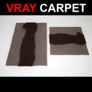 Teppich mit Streifen 3d model