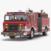 Model 3D z osprzętem strażackim 3d model