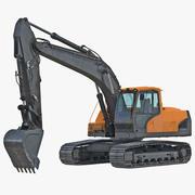 Tracked Excavator Generic 3D Model 3d model