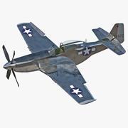 Uçak Kuzey Amerika P-51 Arma 3d model