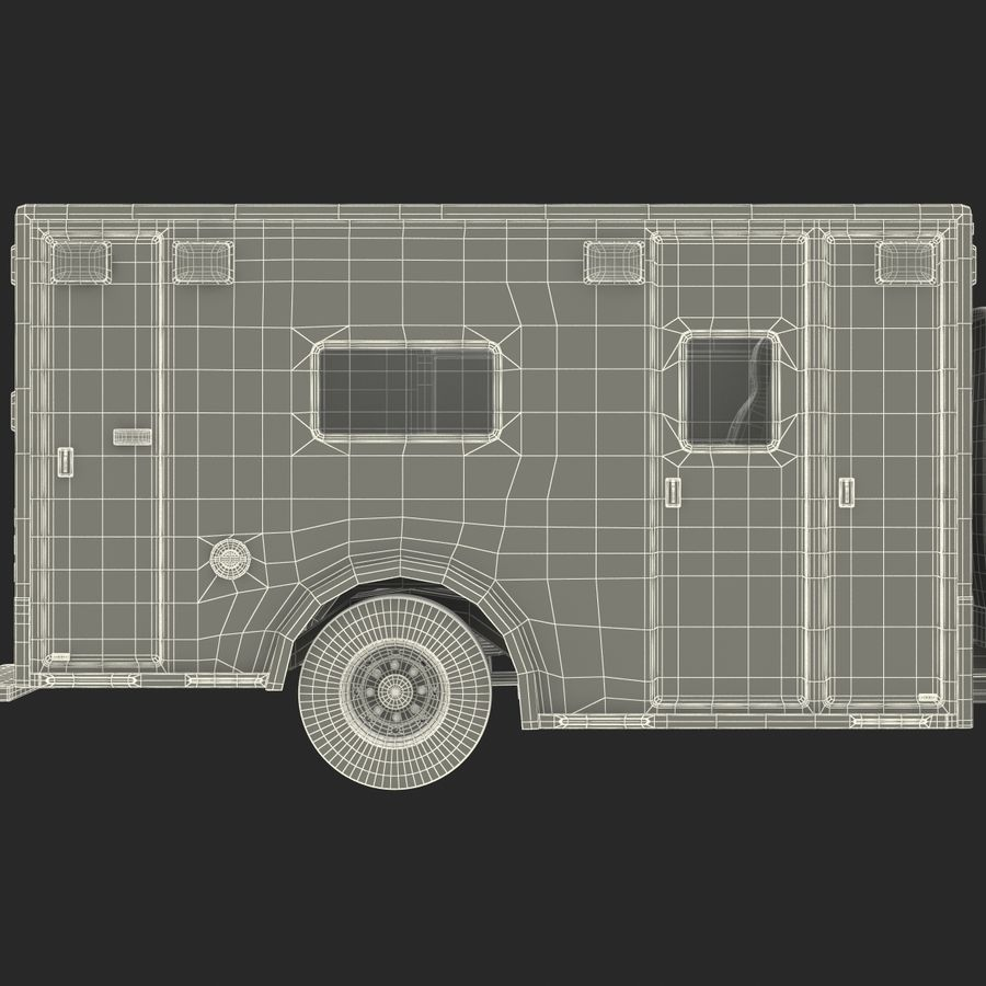 International Durastar Ambulance Rigged 3D Model royalty-free 3d model - Preview no. 65