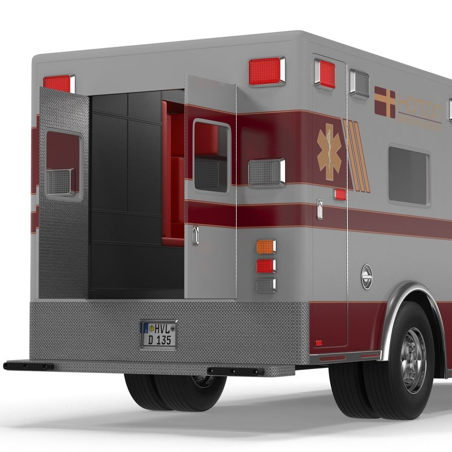 International Durastar Ambulance Rigged 3D Model royalty-free 3d model - Preview no. 36
