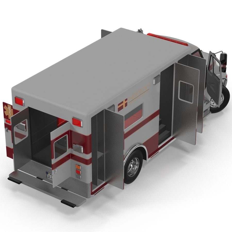 International Durastar Ambulance Rigged 3D Model royalty-free 3d model - Preview no. 18