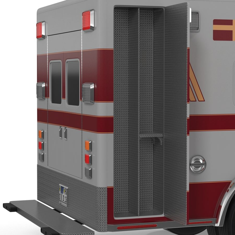 International Durastar Ambulance Rigged 3D Model royalty-free 3d model - Preview no. 42
