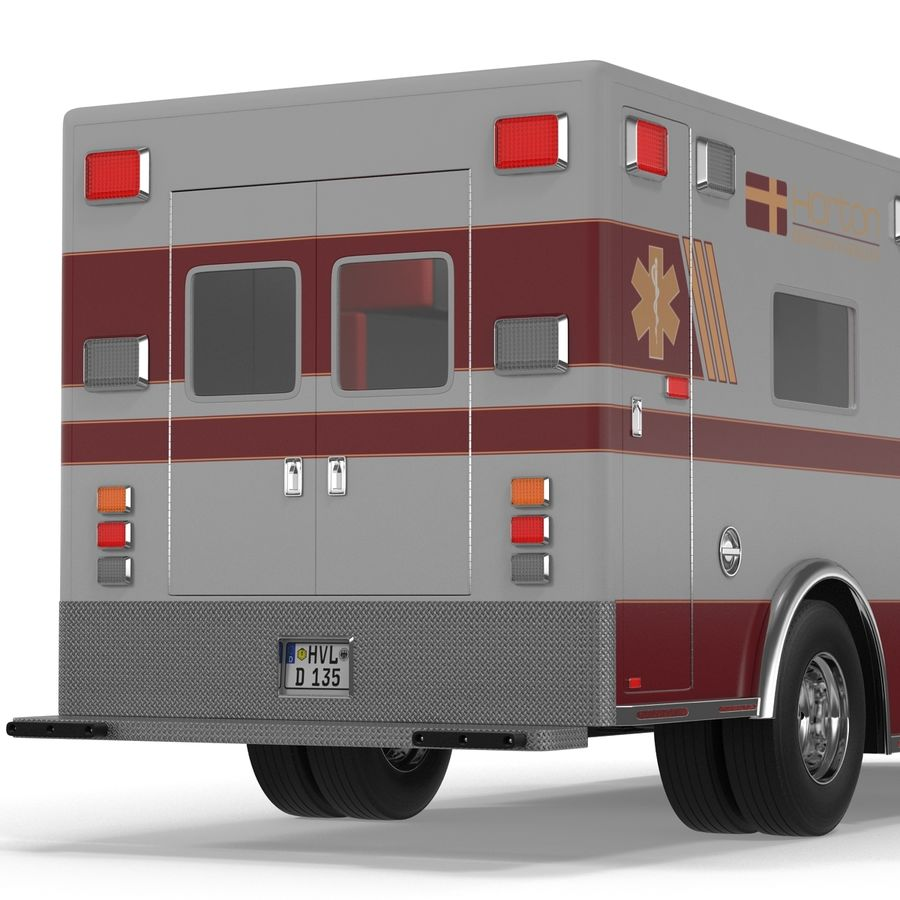 International Durastar Ambulance Rigged 3D Model royalty-free 3d model - Preview no. 35