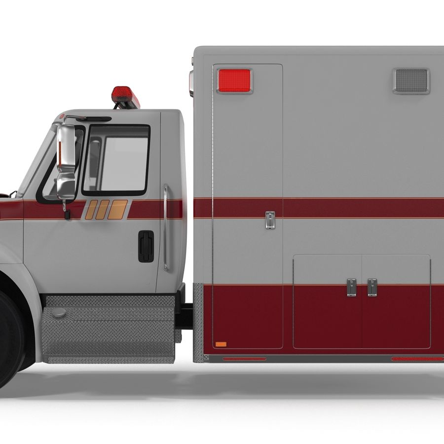 International Durastar Ambulance Rigged 3D Model royalty-free 3d model - Preview no. 31