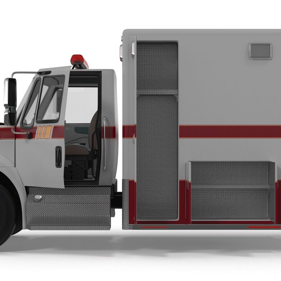 International Durastar Ambulance Rigged 3D Model royalty-free 3d model - Preview no. 32