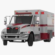 International Durastar Ambulance Rigged 3D Model 3d model