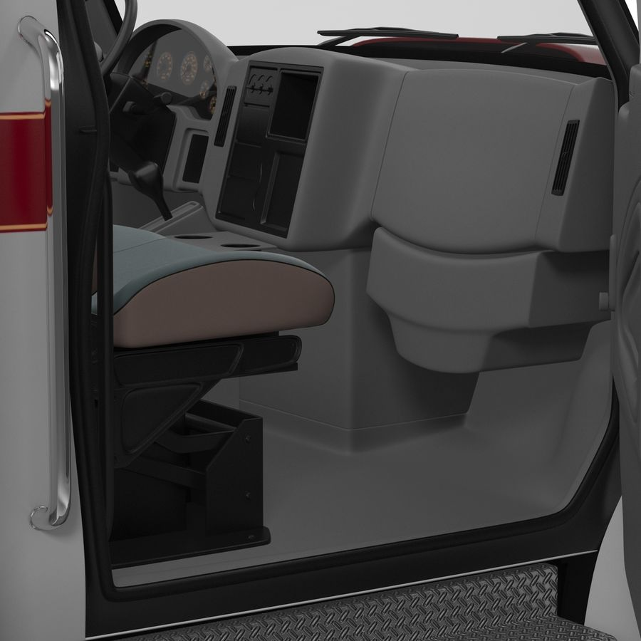 International Durastar Ambulance Rigged 3D Model royalty-free 3d model - Preview no. 46