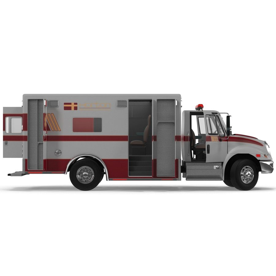 International Durastar Ambulance Rigged 3D Model royalty-free 3d model - Preview no. 24