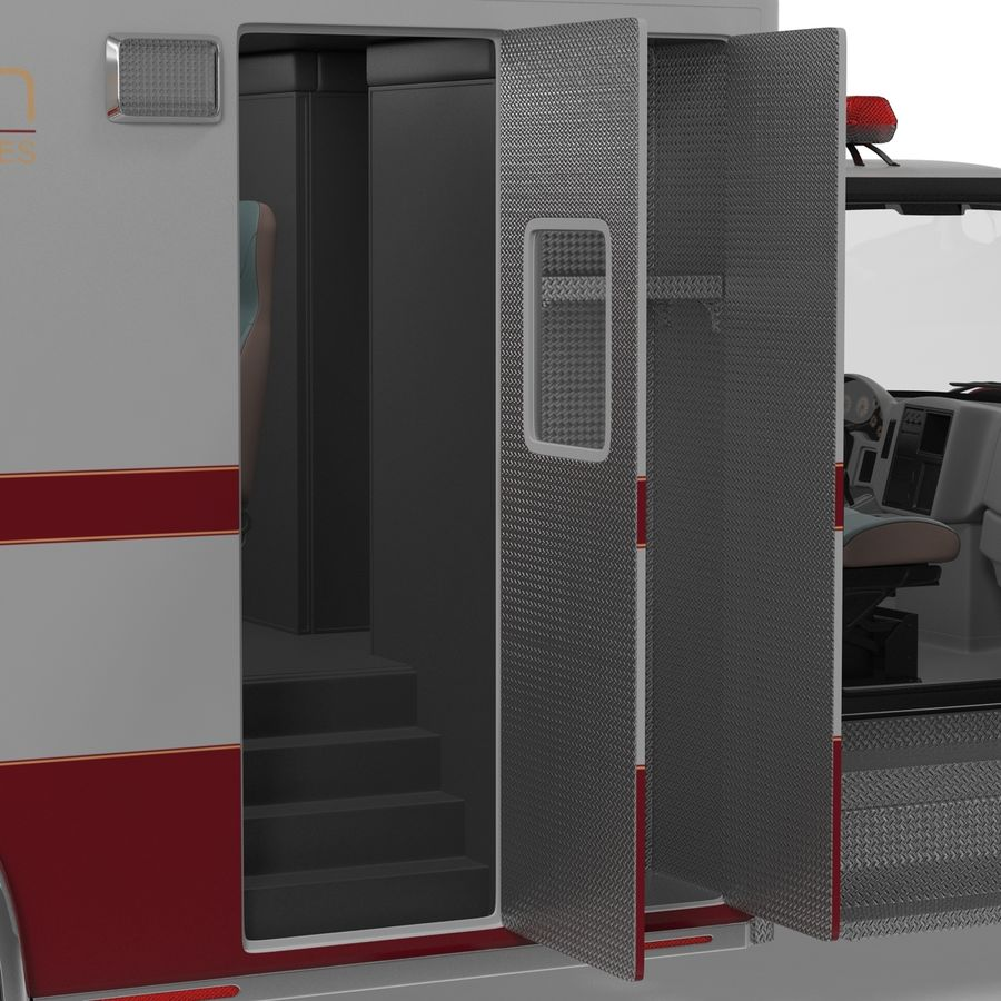 International Durastar Ambulance Rigged 3D Model royalty-free 3d model - Preview no. 43