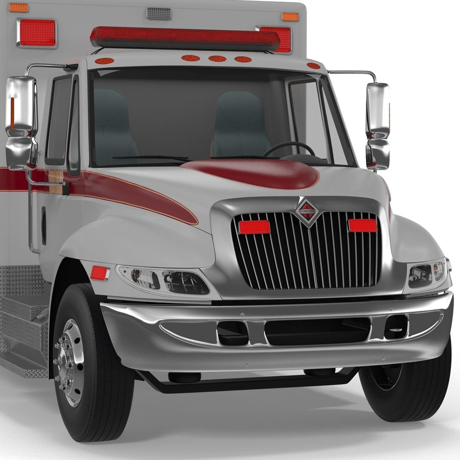 International Durastar Ambulance Rigged 3D Model royalty-free 3d model - Preview no. 30