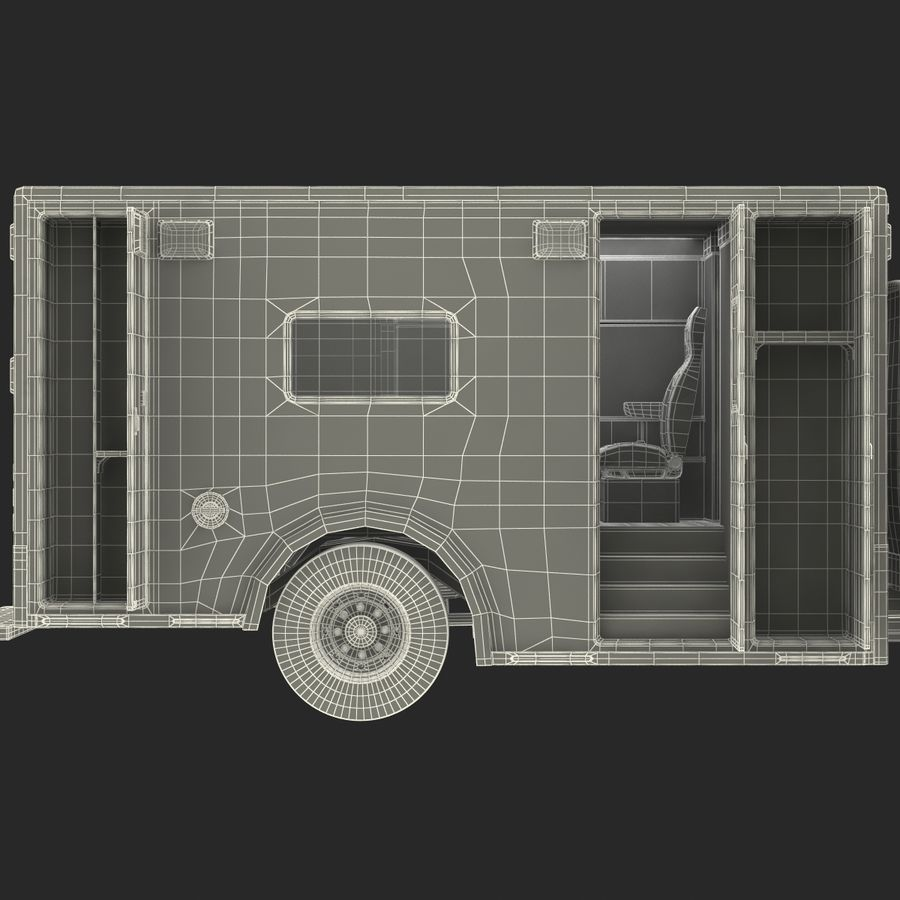 International Durastar Ambulance Rigged 3D Model royalty-free 3d model - Preview no. 66