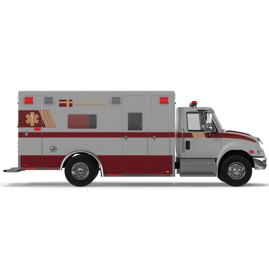 International Durastar Ambulance Rigged 3D Model royalty-free 3d model - Preview no. 23