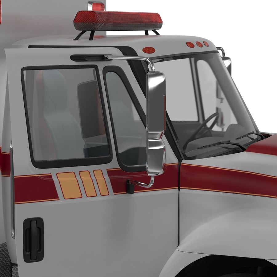 International Durastar Ambulance Rigged 3D Model royalty-free 3d model - Preview no. 45