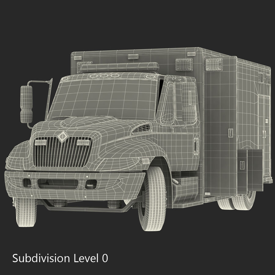 International Durastar Ambulance Rigged 3D Model royalty-free 3d model - Preview no. 53