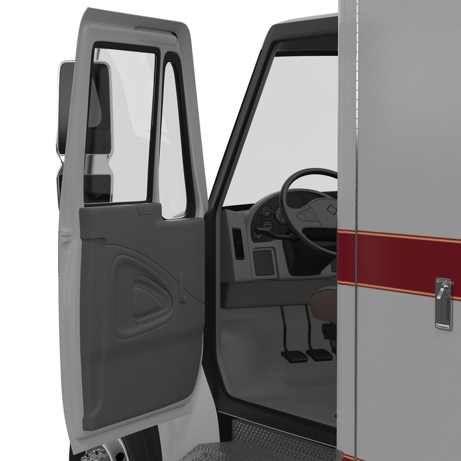 International Durastar Ambulance Rigged 3D Model royalty-free 3d model - Preview no. 41