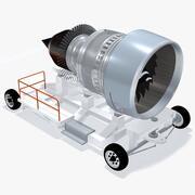 Transportenhet för flygmotor 3d model