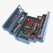 Låda med verktyg 3d model